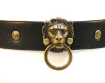 Lion Collar w/Studs