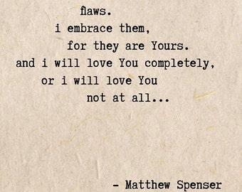 Flaws - an original poem by Matt Spenser