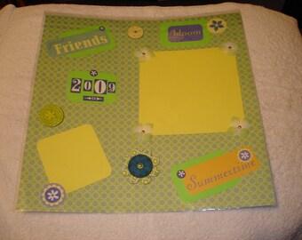 Premade 12x12 Scrapbook Page - FRIENDS
