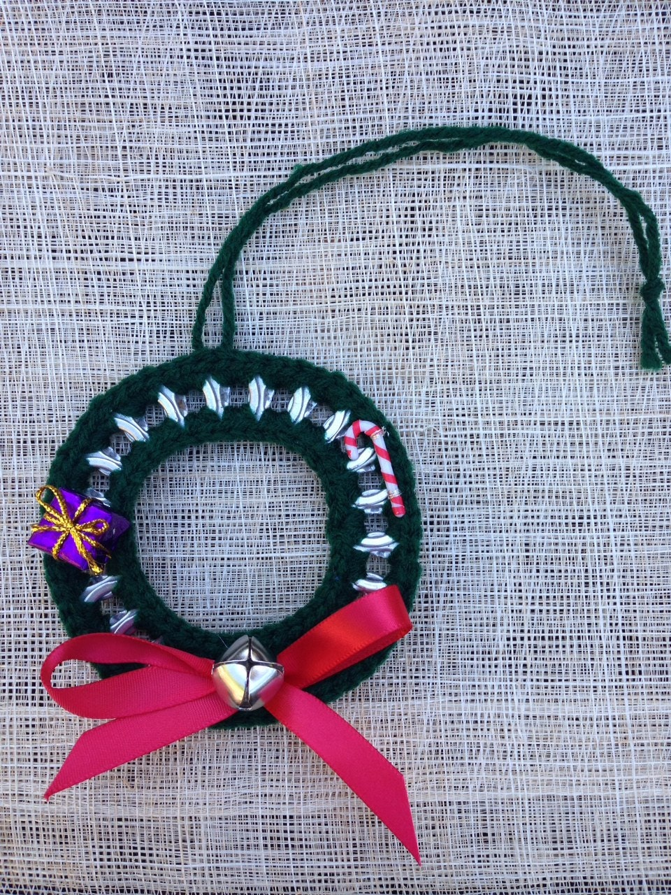 Crochet Pop Top Holiday Wreath Ornament