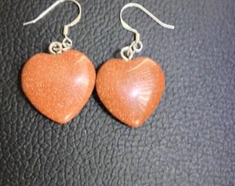 Goldenstone Gemstone Earrings (shimmering sparkle)