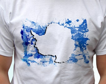Antarctica Flag - new white t shirt country print design 100% cotton - Mens, womens, kids & baby clothing - all sizes!