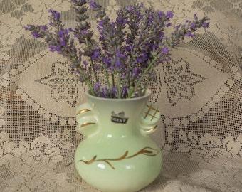 PATES POTTERIES SYDNEY Vintage Gold Gilt Vase Circa 1940's