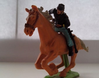 Original 1971 Britains Ltd deetail  Mounted American Civil War Soldier    Vintage