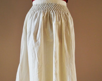 Medieval smocked apron, XIII-XIV Century,  all hand stitched