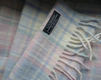 Beautifully soft Lochmere large scarf Merino Wool and Cashmere.Multi colours.