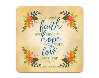Every Day Spirit Magnet / Faith Hope Love / Fridge Magnet / Scripture / Refrigerator Magnet