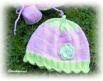 "Cap ""Forest Raspberry"", knitted baby hats, hat ""Wild raspberry"", knitted baby hats, various sizes, various sizes"