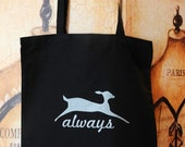 Always canvas tote bag with SILVER INK