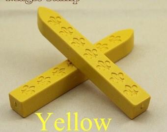2pcs Yellow  Sealing Wax Sticks for Wax Seal Stamp