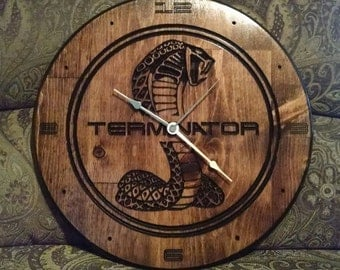 "CNC 15"" Wall Clock - Your choice of ""Terminator"", ""Shelby"", or ""Cobra"""