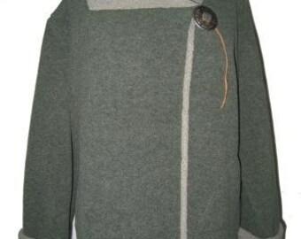 Fleece Concho Jacket Moss