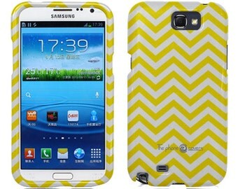 Samsung Galaxy Note 2 Case, Zig Zag Rubberized HardPhone Case Cover
