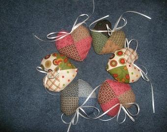 Calico patchwork lavendar sachets
