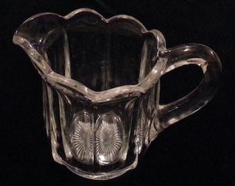 Vintage EAPG Syrup/Creamer in a Colonial Fluted Pattern with Panels (Heisey?) (#1051)