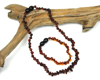 Teething remedy - 12 inch Pure Cherry Baltic Amber Baby Teething Necklace and Anklet 31 cm