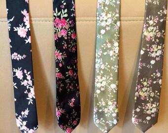 Limited Floral Skinny Ties