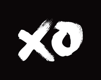 XO Black · A3 Print / Wall Art. 297mm x 420mm, unframed.