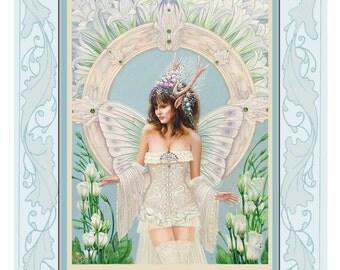 Fantasy, Fairy print from original artwork titled 'The Faery Bride'
