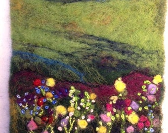 Custom Felted wool painting (small)