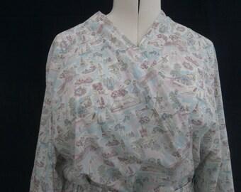 Bathrobe, XL - Liberty of London bathrobe / dressing gown
