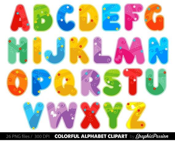 alphabet clipart color alphabet digital alphabet letters color clipart digital letters clip art alphabet clip art letters clipart