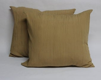 One Beige Pleated Pillow Cover