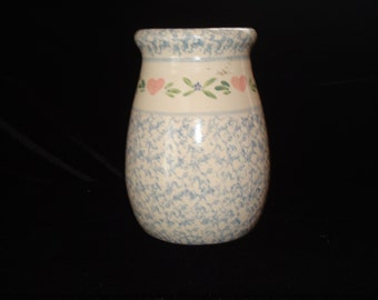 Vintage signed pottery vase or utensil holder