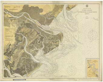 Tybee Island Map - Savannah Map - 1926