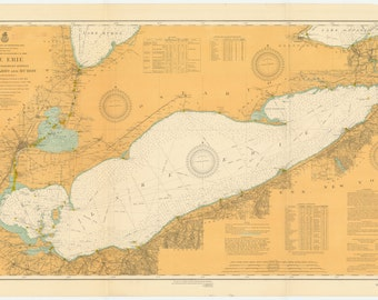 Lake Erie Map 1913