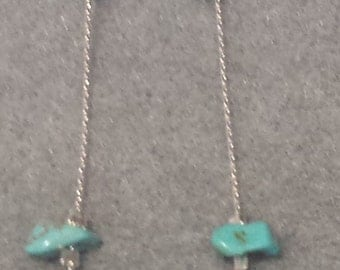 Silver Chain with Turquoise pieces