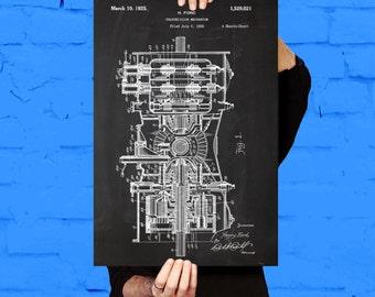 Henry Ford Transmission, Henry Ford Transmission Patent, Ford Transmission Art, Transmission Decor, Transmission Blueprint sp390