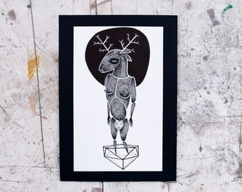 The Deer On The Polyhedron-Print