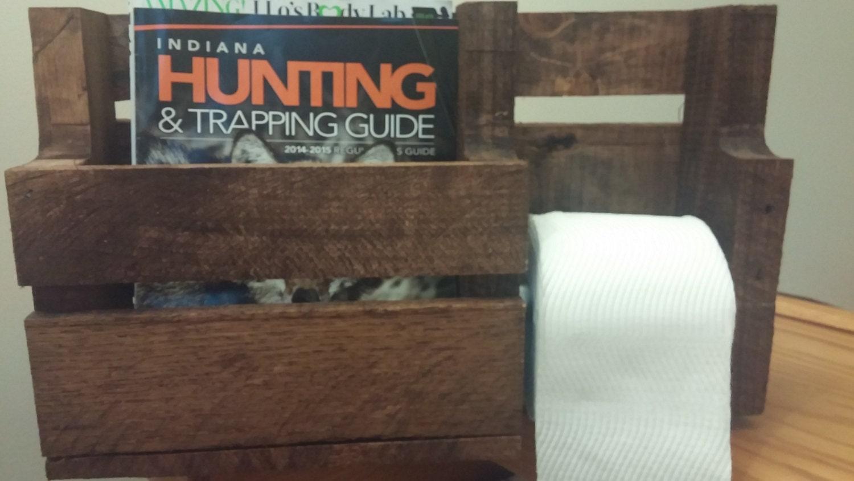 Toilet Paper Holder Magazine Rack Bathroom Furniture By Stratt38