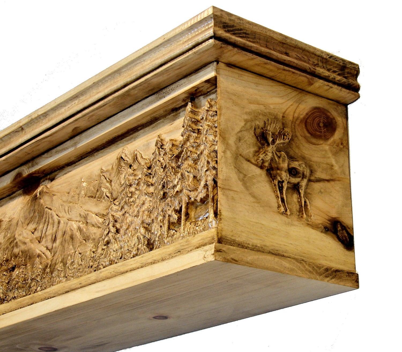 Unique Fireplace Mantel 3D Carved Mantle Shelf Outdoor