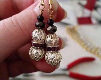 Filigree bauble earrings
