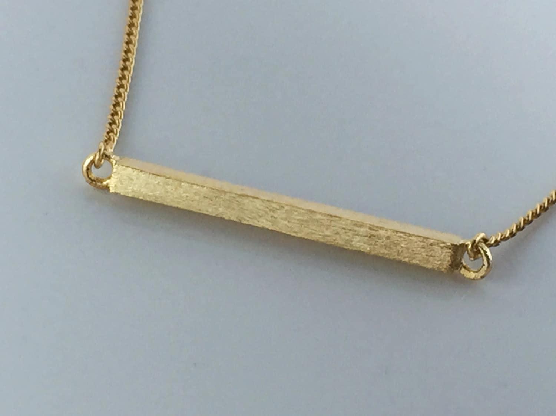 gold horizontal bar necklace matte crossbarhigh qualitygift