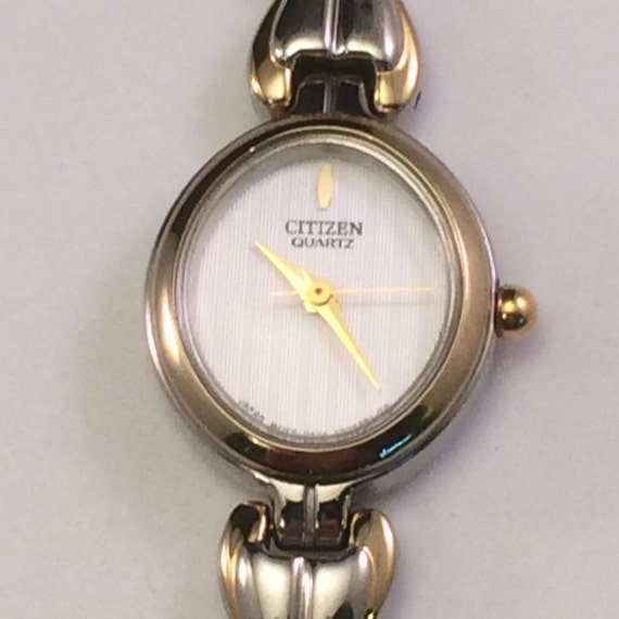 s citizen silver and gold tone quartz analog vintage