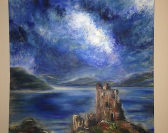 Original Scotland Painting Acrylic Paint