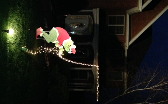 GIANT Christmas Character Yard Art Stealing Christmas Lights