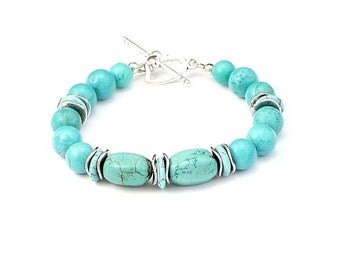 Bracelet from Turquoise Gemstones