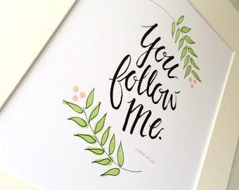 Illustrated John 21:22 Print