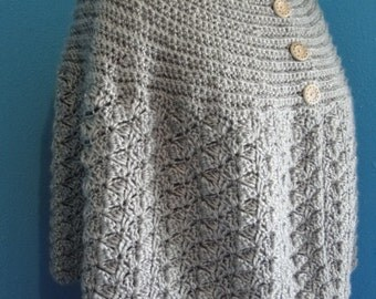 Bottom up crochet cape crochet pattern