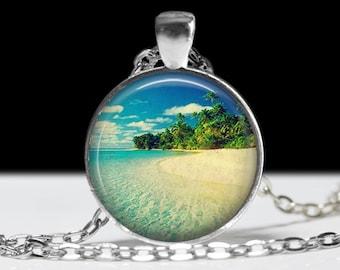 Beach Pendant Beach Jewelry Glass Pendant