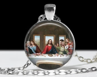 The Last Supper Painting Pendant Famous Painting Jewelry