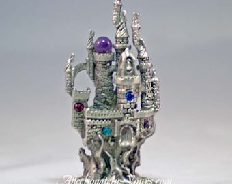 Pewter Fantasy Castle Collectible 4381