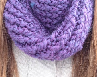 Long eternity purple and blue scarf