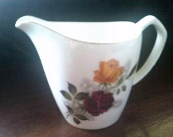 Vintage Alfred Meakin Glo-white Roses Jug