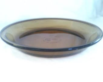 Anchor Hocking Amber Glass Pie Plate