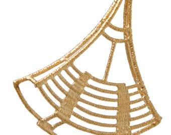 Gold Earrings - Geometric Earrings - Geometric Pattern Earrings - Triangle earrings - gift for her - handmade jewelry
